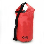 15L PVC Material Red Color Waterproof Dry Tube Bag