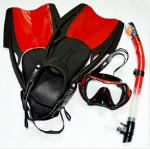 Rubber fins open heel fins adjust strap to fit every foot size