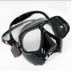 Spearfishing Tempered Glass Mask Scuba Black Diving Mask for Fishing