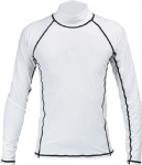 Customized Logo White Rash Guards with Black Stitching