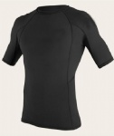 Customized Short Sleeves All Black Simple Design Rash Guard