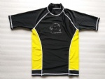 Customized Yellow and Black Rash Guards