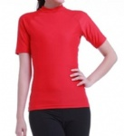 Customized Red Rash Guards Short Sleeves