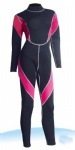 Customized Black and Pink Wetsuits for Women