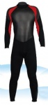 Customized Black and Red Full Wetsuit