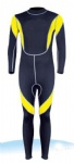 Customized Black and Yellow Full Wetsuits